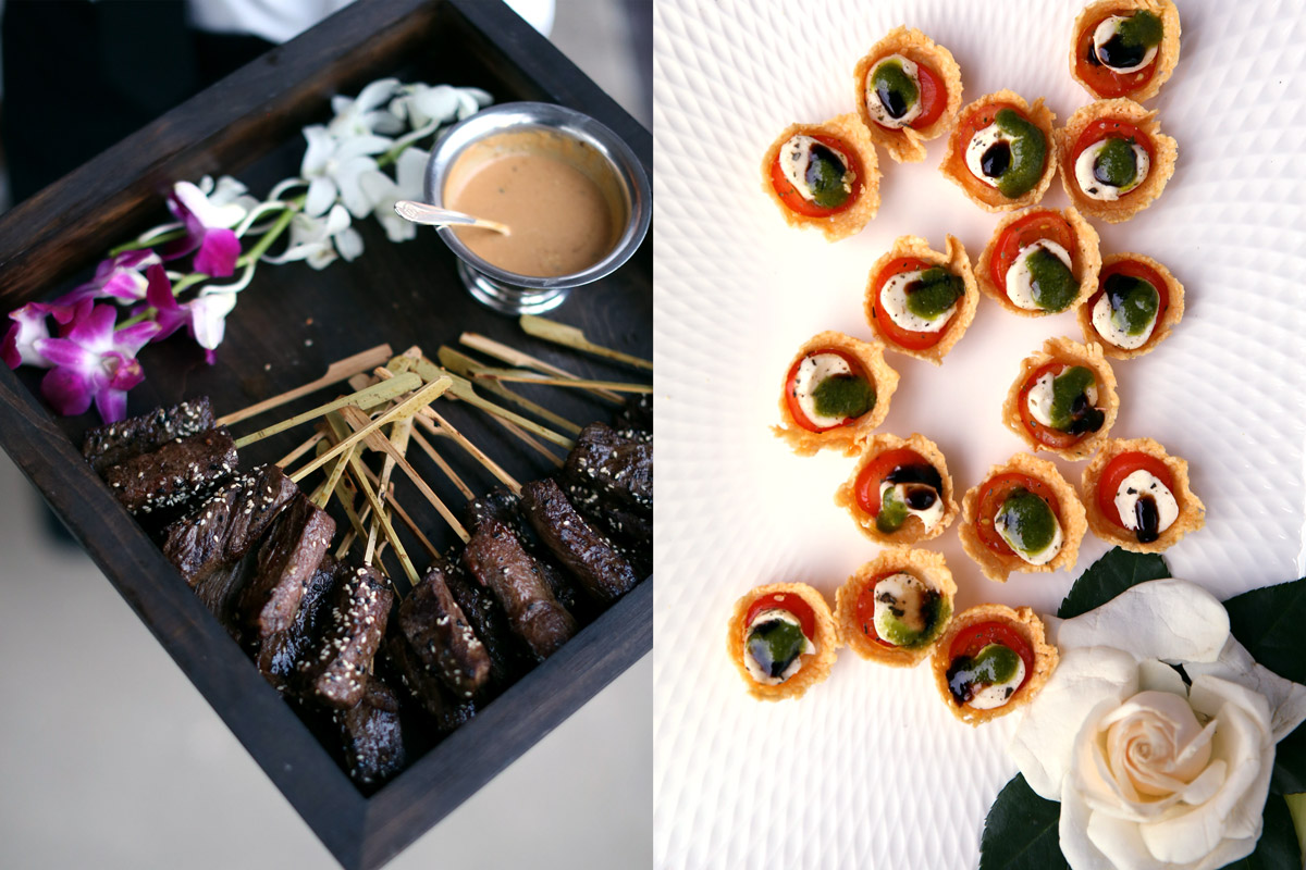 Tray passed hors d' oeuvres
