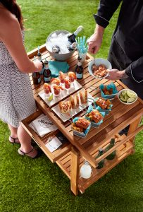 Action Stations - Champagne & Seafood Cart