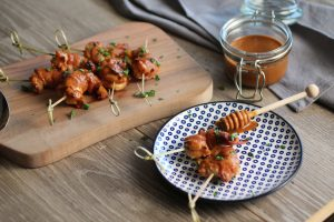 Father's Day Menu - Chipotle BBQ Shrimp wrapped with Bacon